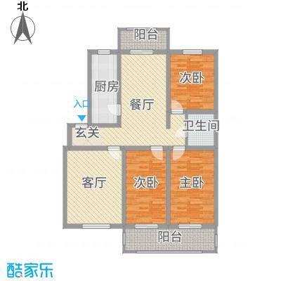 丰禾新家园142.70㎡G户型3室2厅2卫1厨