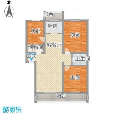 丰禾新家园136.10㎡E户型3室2厅2卫1厨