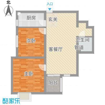 秦文阁11.00㎡户型2室