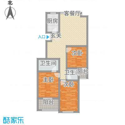 广济苑公寓127.00㎡户型