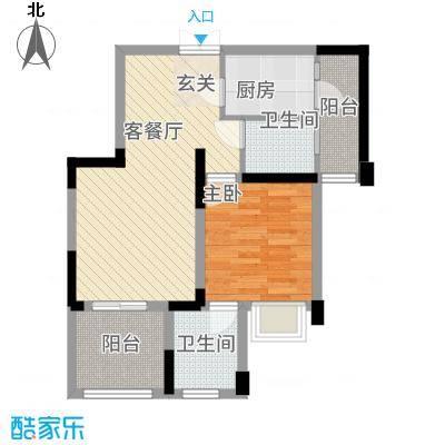 君苑12.00㎡户型3室