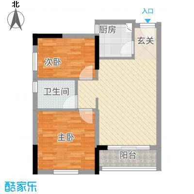 侨邦国际公寓33.00㎡户型