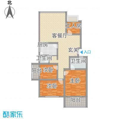 丹桂雅苑146.00㎡户型