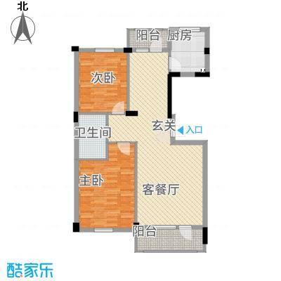 熙园5户型2室2厅1卫1厨