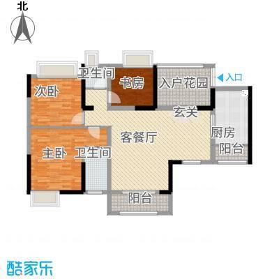 杰座名园户型3室