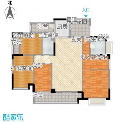 金宇锦园76.00㎡雍景台2-18双数层A(D)户型2室2厅2卫