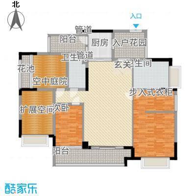 金宇锦园114.00㎡雍景台2-18双数层A户型3室2厅2卫