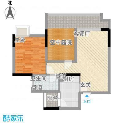 金宇锦园55.00㎡尚景轩4-21层04户型1室1厅1卫