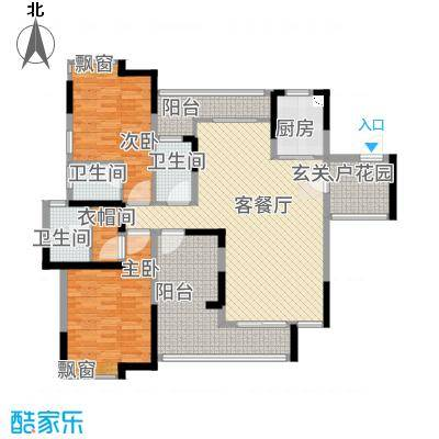 逸林苑155.00㎡21栋2-16层01户型