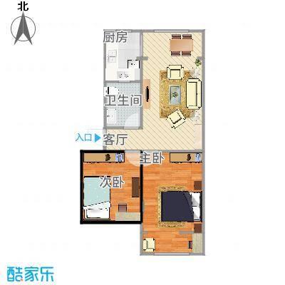 沙子堰小区62平方两室一厅
