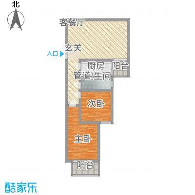 永宁馨园C户型2室2厅1卫1厨