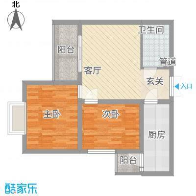 永宁馨园78.00㎡D户型2室1厅1卫1厨