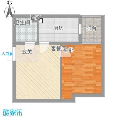 永宁馨园54.00㎡G户型1室1厅1卫1厨