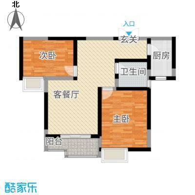 朱雀城市广场8.00㎡C户型2室2厅1卫1厨