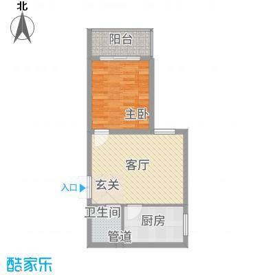 永宁馨园6.00㎡H户型1室1厅1卫1厨
