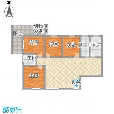 曲江雁唐府邸15.72㎡精致家居3#A户型4室2厅2卫1厨