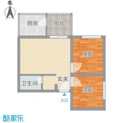 曲江雁唐府邸62.63㎡浪漫1#C户型2室2厅1卫1厨