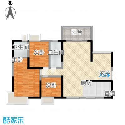 滨江君悦香邸133.00㎡户型3室