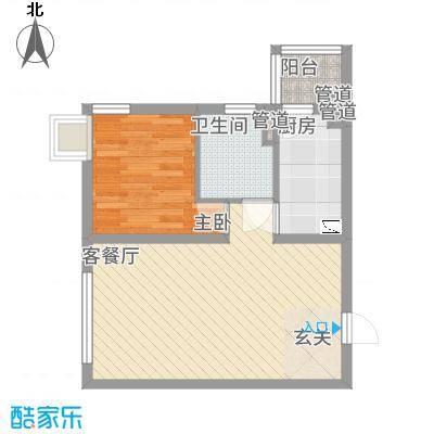 桃园公寓户型1室