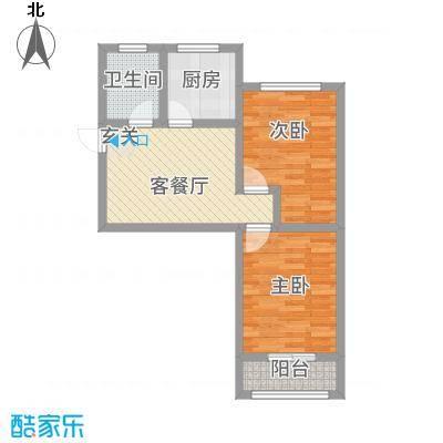 夕照新村56.00㎡户型2室