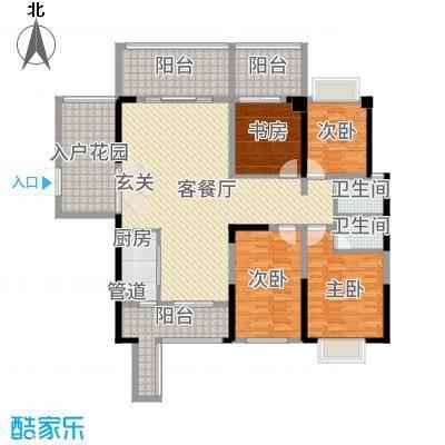 万和乐华花园153.00㎡1栋04-05-户型4室2厅2卫1厨