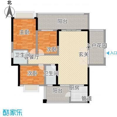 万和乐华花园142.00㎡2栋04-07户型2厅2卫