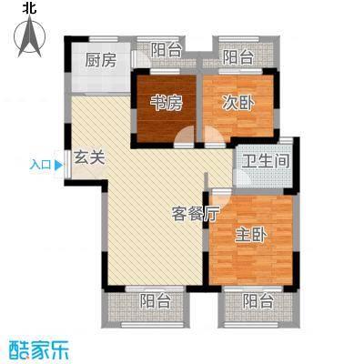 景徽国际118.20㎡C-1户型3室2厅1卫1厨