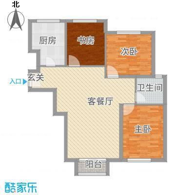 首创・象墅C户型3室2厅1卫1厨