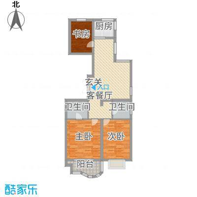 千禧・御东画卷17.20㎡G2户型3室2厅2卫1厨