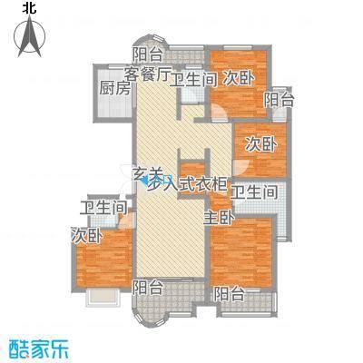 千禧・御东画卷11.18㎡F4户型4室2厅3卫1厨