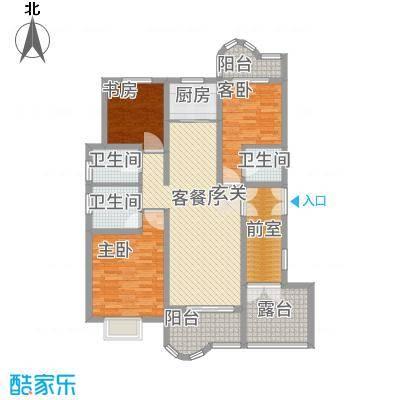 千禧・御东画卷142.21㎡D3户型3室2厅3卫1厨