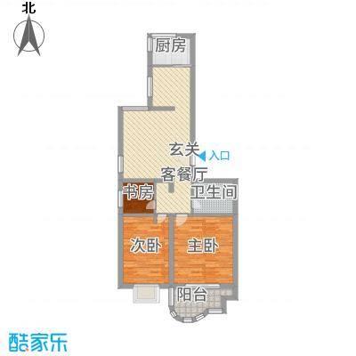 千禧・御东画卷5.70㎡G1户型3室2厅1卫1厨