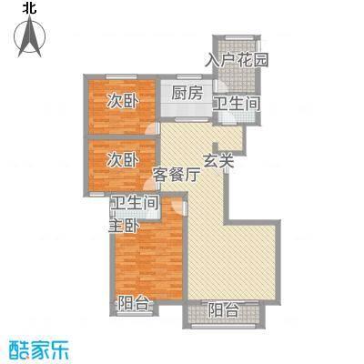 安阳义乌商贸城二期135.00㎡住宅D1户型3室2厅2卫1厨