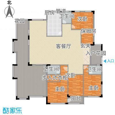 韶嘉香悦四季23.00㎡S户型5室3厅3卫1厨