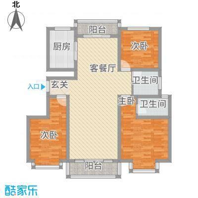 一品江南一品e户型3室2厅2卫1厨