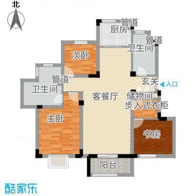 信达-泉天下5123.20㎡D5户型3室2厅2卫