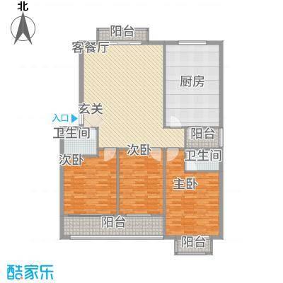 鑫地・阳光城158.84㎡3_户型3室2厅2卫1厨