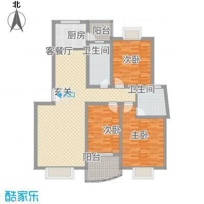 水岸华庭152.10㎡3户型3室2厅2卫1厨
