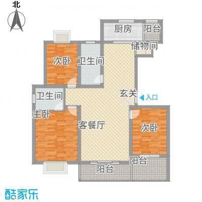 水岸华庭152.38㎡2户型3室2厅2卫1厨