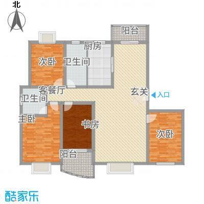 水岸华庭183.11㎡4户型4室2厅2卫1厨