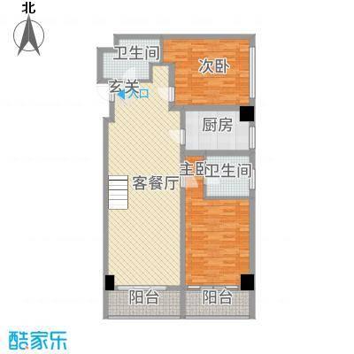 宏运・国际商务港142.51㎡C户型2室1厅1卫