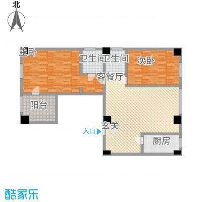 宏运・国际商务港177.83㎡E户型2室1厅2卫