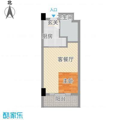 宏运・国际商务港56.78㎡B户型1室1厅1卫