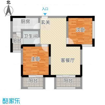 景徽国际4.15㎡C-2户型2室2厅1卫1厨