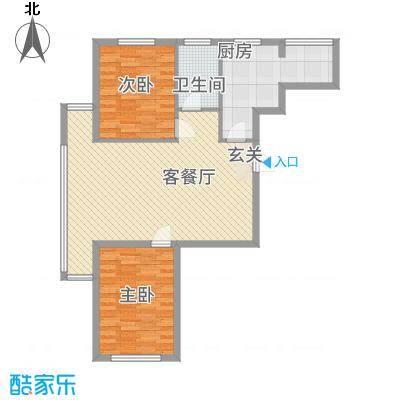 金城・锦绣御园7.78㎡B户型2室2厅