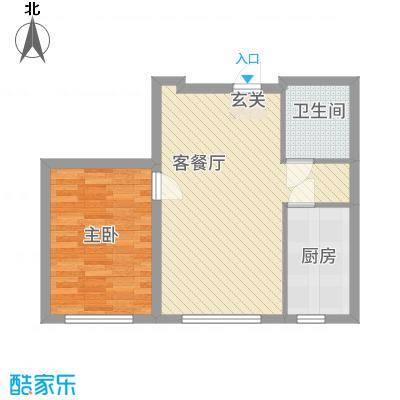 金城・锦绣御园66.61㎡A户型1室1厅