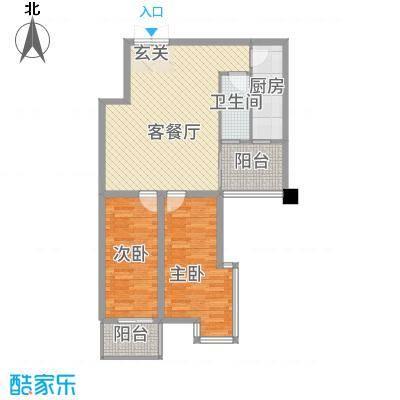都市花园11.60㎡户型2室2厅1卫1厨