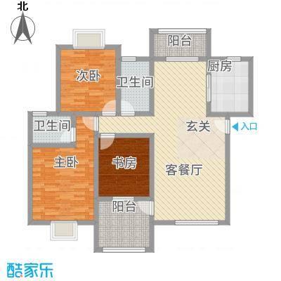 圣地亚哥111.45㎡B户型3室2厅2卫1厨