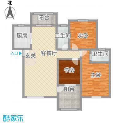 圣地亚哥118.10㎡C户型3室2厅2卫1厨