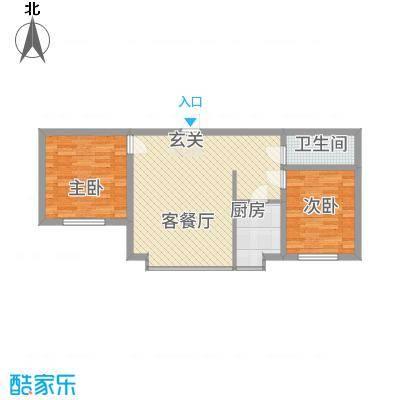 辽阳鑫德雅居86.85㎡户型